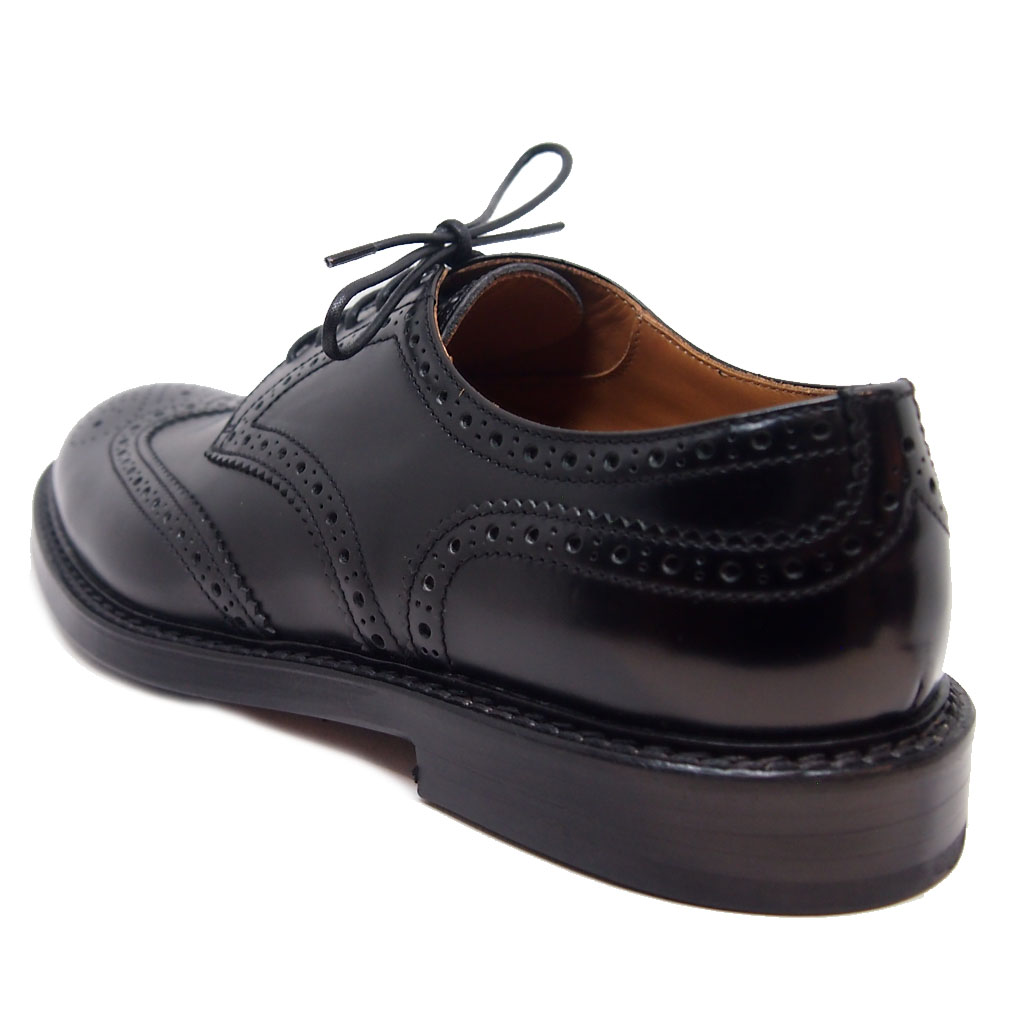 Doucal s 1367 brogue spazzolato nero - The Mirror Stage Men s Shoes 30c3d3eb85a